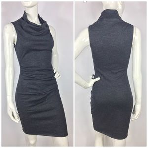 Helmut Lang Wool Cowl Neck Sleeveless Dress